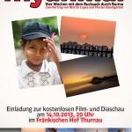 Myanmar Vortrag am 14.10.2013 in Thurnau
